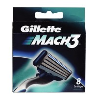 Gillette Mach 3 Manual Shaving Razor Blades (Cartridge) 8s pack