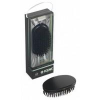 Kent MN11 Oval Ebonywood Black Pure Bristle Luxury Military Brush