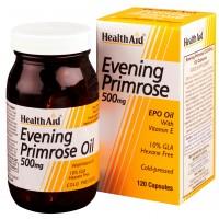 HealthAid Evening Primrose Oil 500mg With Vitamin E - 120 Capsules