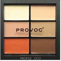 Provoc Contour Correct Conceal Palette - Profile 1