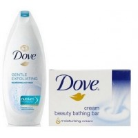 Dove Gentle Exfoliating Nourishing Body Wash + Free Cream Beauty Bar (50gm)