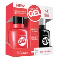 Sally Hansen Miracle Gel Dual Pack - Top Coat + Redgy