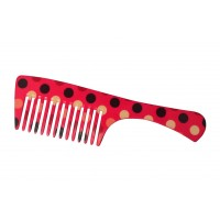 FeatherFeel Printed Polka Fever Handle Comb