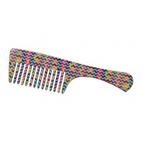 FeatherFeel Printed Italian Weave Handle Comb