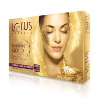 Lotus Herbals Radiant Gold Cellular Glow 1 Facial Kit
