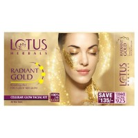 Lotus Herbals Radiant Gold Cellular Glow 4 Facial Kit
