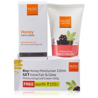 VLCC Honey Moisturiser + Insta Fair & Glow Moisturizing Cold Cream (Free)