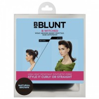 BBLUNT B Witched, Wrap Around Short Pony Tail Hair Extension, Natural Brown