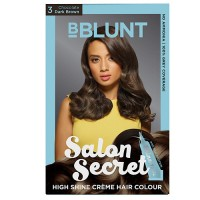 BBLUNT Salon Secret High Shine Creme Hair Colour - Chocolate Dark Brown 3