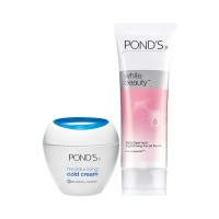 Ponds Moisturing Cold Cream With Free POND'S White Beauty Daily Spot-less Lightening Facial Foam