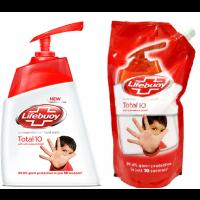 Lifebuoy Germ Protection Handwash Total 10 + Free Lifebuoy Handwash 185ml Refill