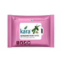 Kara Refreshing Face Wipes With Cucumber And Aloe Vera (20 Wipes)