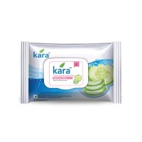 Kara Refreshing Face Wipes With Cucumber And Aloe Vera (30 Wipes)