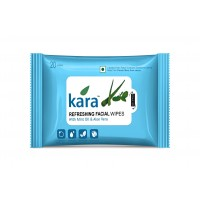 Kara Refreshing Face Wipes With Mint Oil And Aloe Vera (20 Wipes)