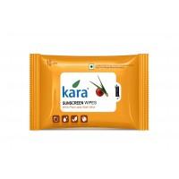 Kara Sunscreen Wipes With Plum And Aloe Vera (10 Wipes)
