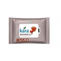 Kara Moisturizing Wipes With Honey And Almond (10 Wipes)