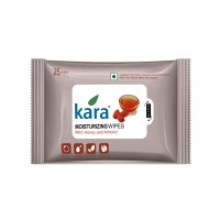 Kara Moisturizing Wipes With Honey And Almond (25 Wipes)