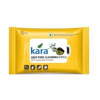 Kara Deep Pore Cleasing Wipes With Jojoba And Avocado (10 Wipes)