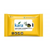 Kara Deep Pore Cleasing Wipes With Jojoba And Avocado (25 Wipes)