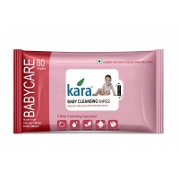 Kara Baby Cleansing Wipes With Chamomile Extract (80 Wipes)