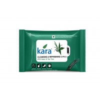 Kara Cleansing And Refreshing Wipes With Neem And Tea Tree (10 Wipes)