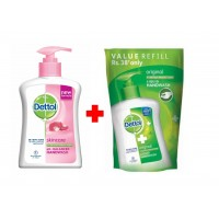 Dettol Skincare Ph-Balanced Liquid + Original Liquid Handwash Pouch 185ml