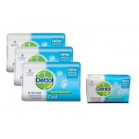 Dettol Cool Soap (Pack Of 3) + 75gm Dettol Soap Free