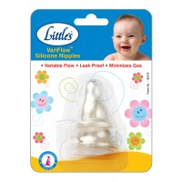 Little's VariFlow Silicone Nipple Blister (Pack of 2)