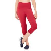 Amante Red Seamless Fitness Capri Pants