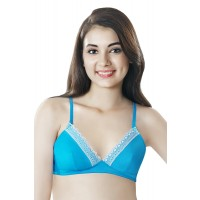 BFF by Amante Blue Padded Non-Wired Bra with Detachable straps