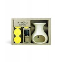 Iris Amogha Vaporizer with 4 Tealights (10ml) - Lemongrass