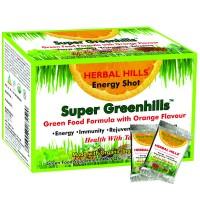 Herbal Hills Super Greenhills Orange Flavour 2g X 30 Sachets Powder