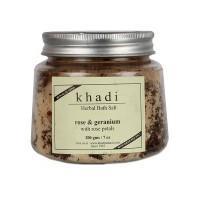 Khadi Natural Rose Geranium With Rose Petals Bath Salt