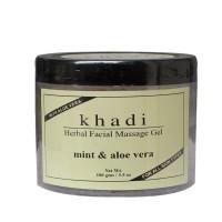 Khadi Natural Facial Massage Gel Mint & Aloe Vera