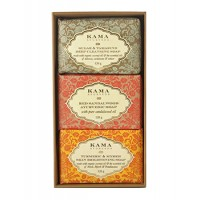 Kama Ayurveda Three Traditional Treatment Soap Box