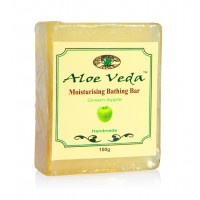 Aloe Veda  Moisturising Bathing Bar - Green Apple