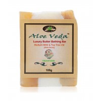 Aloe Veda  Luxury Butter Bar - Multani Mitti & Tea Tree Oil