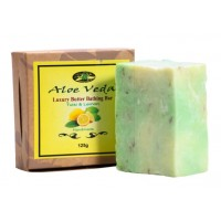 Aloe Veda  Luxury Butter Bathing Bar - Tulsi & Lemon