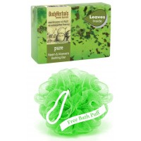 BodyHerbals Pure, Hand Made Neem & Aloevera Bathing Bar With Natural Leaves