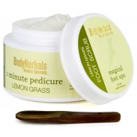 BodyHerbals 1 Minute Pedicure, Lemongrass Foot Scrub