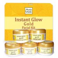 Auravedic Instant Glow Gold Kit