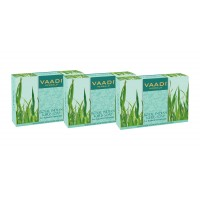 Vaadi Herbals Value Pack Of 3 Royal Indian Khus Soap With Olive & Soyabean Oil