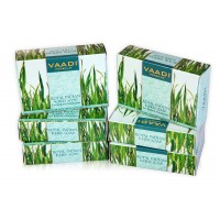 Vaadi Herbals Value Pack Of 6 Royal Indian Khus Soap With Olive & Soyabean Oil
