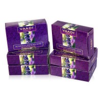 Vaadi Herbals Super Value Pack Of 6 Heavenly Lavender Soap With Rosemary Extract