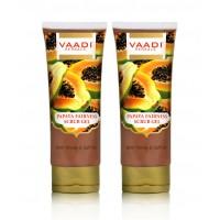 Vaadi Herbals Papaya Fairness Scrub Gel With Honey & Saffron (Pack Of 2)