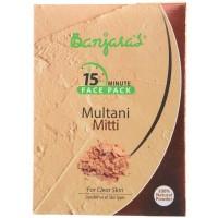 Banjara's 15 Minute Multani Mitti Face Pack (5 Sachets Inside)