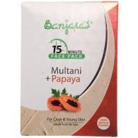 Banjara's 15 Minute Multani + Papaya Face Pack (5 Sachets Inside)