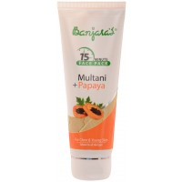 Banjara's 15 Minute Multani + Papaya Face Pack(Tube)