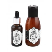 The Man Company Almond & Thyme Beard Oil + Beard Wash Combo