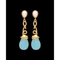 Studio Voylla Winter Wonderland Drop Earrings With Gold Plating